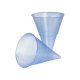 5 x  1000 Spitzbecher, PP 115 ml Ø 7,03 cm · 9,5 cm blau Blue Cone