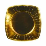 20 x  8 Teller, Pappe eckig 20 cm x 20 cm gold