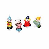 10 x  4 Geburtstagskerzen 4,5 cm Clown inkl. Halter