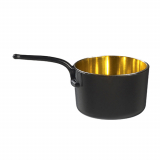 10 x  24 Fingerfood - Becher, PS 50 ml Ø 5 cm · 3,2 cm x 9 cm schwarz/gold Escoffier