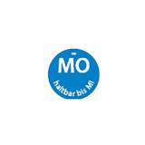 500 Day Mark Etiketten Ø 19 mm blau Dissolve Mark MO haltbar bis MI rund, völlig auflösbar