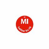 500 Day Mark Etiketten Ø 19 mm rot Dissolve Mark MI haltbar bis FR rund, völlig auflösbar