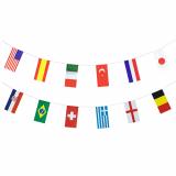 10 x  Flaggenkette, Papier 10 m 32 Nations schwer entflammbar