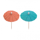 20 x  10 Deko-Picker 10 cm farbig sortiert Eisschirmchen Dots
