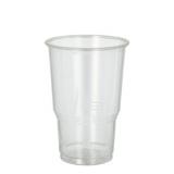15 x  25 Kaltgetränkebecher, PLA pure 0,25 l Ø 7,8 cm · 11 cm glasklar mit Schaumrand