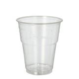 12 x  25 Kaltgetränkebecher, PLA pure 0,3 l Ø 9,5 cm · 11 cm glasklar mit Schaumrand