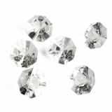 8 x  8 Deko-Accessoires Ø 32 mm · 23 mm transparent Diamonds