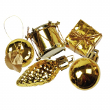8 x  13 Deko-Accessoires gold Christmas Decorations Ø 20-60 mm