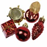 8 x  13 Deko-Accessoires rot Christmas Decorations Ø 20-60 mm