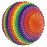 3 x  Streifenball Ø 70 cm Rainbow schwer entflammbar