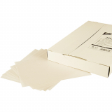 5 x  2000 Blatt Sahneabdeckpapier 22 cm x 16 cm weiss