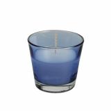 4 x  Glas mit Wachsfüllung Ø 90 mm · 80 mm dunkelblau