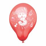 12 x  6 Zahlenluftballons Ø 25 cm farbig sortiert 3