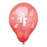 12 x  6 Zahlenluftballons Ø 25 cm farbig sortiert 4