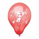12 x  6 Zahlenluftballons Ø 25 cm farbig sortiert 7