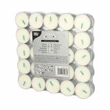 10 x  50 Teelichte Ø 37,2 mm · 17,9 mm weiss aus 100 % Stearin