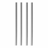 10 x  135 Shake-Halme Ø 8 mm · 25 cm silber