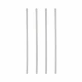 20 x  25 Trinkhalme PLA, starr pure Ø 6 mm · 21 cm weiss