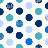 10 x  20 Servietten, 3-lagig 1/4-Falz 33 cm x 33 cm blau Balls