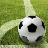 10 x  20 Servietten, 3-lagig 1/4-Falz 33 cm x 33 cm Football