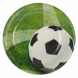 20 x  10 Teller, Pappe rund Ø 23 cm Football
