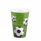 14 x  10 Trinkbecher, Pappe 0,2 l Ø 7 cm · 9,7 cm Football