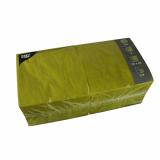 4 x  250 Servietten, 3-lagig 1/4-Falz 33 cm x 33 cm olivgrün