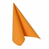 12 x  20 Servietten ROYAL Collection 1/4-Falz 33 cm x 33 cm orange