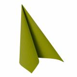 12 x  20 Servietten ROYAL Collection 1/4-Falz 33 cm x 33 cm olivgrün