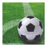 12 x  50 Servietten, 3-lagig 1/4-Falz 33 cm x 33 cm Football
