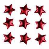 8 x  25 Deko-Accessoires Ø 30 mm rot Textile Stars
