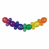 8 x  Ballongirlande 2 m Happy Birthday