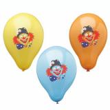 12 x  6 Luftballons Ø 29 cm farbig sortiert Clown