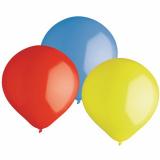 12 x  2 Luftballons, Maxi Ø 47 cm farbig sortiert