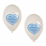 12 x  20 Luftballons Ø 25 cm Bayrisch Blau