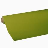 10 x  Tischdecke, Tissue ROYAL Collection 5 m x 1,18 m olivgrün