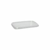 10 x  100 Deckel für Verpackungsbecher, PP eckig 0,6 cm x 8,1 cm x 10,8 cm transparent