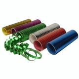 30 x  Luftschlangen 4 m farbig sortiert Metallic
