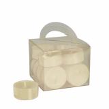 8 x  12 Teelichte Ø 38 mm · 18 mm creme in Polycarbonathülle, durchgefärbt
