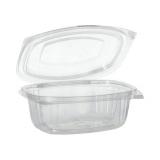 6 x  50 Feinkost- und Salatschalen mit Klappdeckeln, PLA pure 500 ml 6,4 cm x 16,1 cm x 13,2 cm glasklar