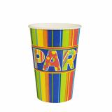14 x  10 Trinkbecher, Pappe 0,2 l Ø 7 cm · 9,7 cm New Party