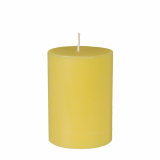 12 x  Stumpenkerze Ø 70 mm · 100 mm gelb aus 100% Stearin, durchgefärbt