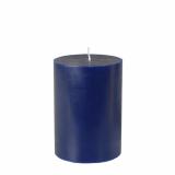 12 x  Stumpenkerze Ø 70 mm · 100 mm dunkelblau aus 100% Stearin, durchgefärbt