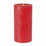 12 x  Stumpenkerze Ø 70 mm · 150 mm rot aus 100% Stearin, durchgefärbt