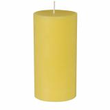 12 x  Stumpenkerze Ø 70 mm · 150 mm gelb aus 100% Stearin, durchgefärbt