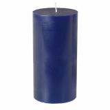 12 x  Stumpenkerze Ø 70 mm · 150 mm dunkelblau aus 100% Stearin, durchgefärbt