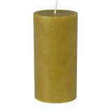 12 x  Stumpenkerze Ø 70 mm · 150 mm olivgrün aus 100% Stearin, durchgefärbt