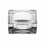 12 x  Kerzenhalter, Glas eckig 27 mm x 60 mm x 60 mm glasklar für Teelichte
