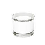 12 x  Kerzenhalter, Glas rund Ø 63 mm · 55 mm weiss für Teelichte