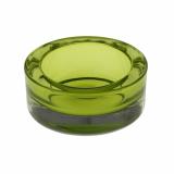 12 x  Kerzenhalter, Glas rund Ø 65 mm · 27 mm grün für Teelichte